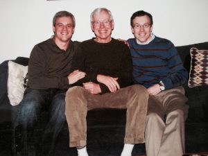 Bill with his two sons